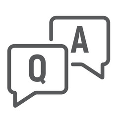 question and answer line icon e learning vector image