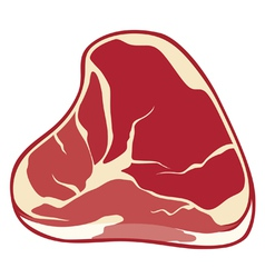 Steak-meat vector image vector image