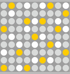 Tile pattern with grey white and yellow polka dot vector