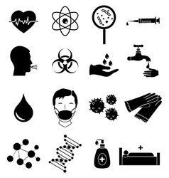Virus infection icons set vector image