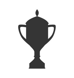Trophy cup champion icon vector