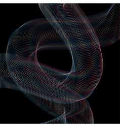 Snaking geometric waves vector