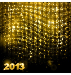 2013 sparkling gold mosaic vector image