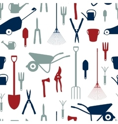 Garden tools instruments flat icon collection set vector