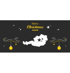 Austria merry christmas map black vector