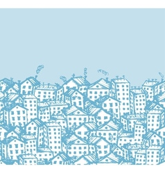 City sketch seamless background for your design vector