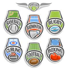 Set sports logo vector