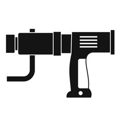 Hand drill icon simple vector