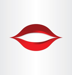 girl mouth kiss lips icon vector image
