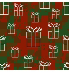 Pattern with gifts vector