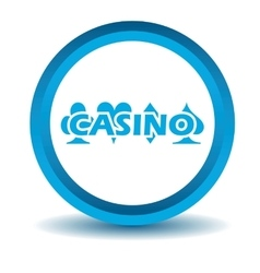 Casino icon blue 3d vector