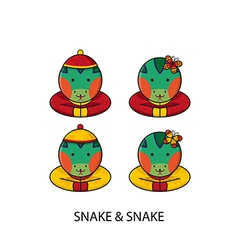 Snake chinese vector
