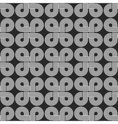 Linear seamless pattern twisted parallel circles vector