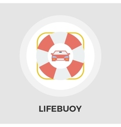 Lifebuoy line icon vector
