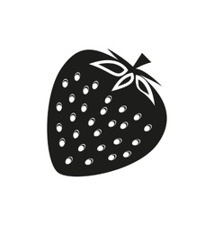 Strawberry on white background vector