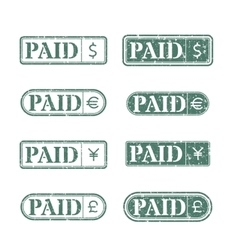 A set of stamps is paid vector