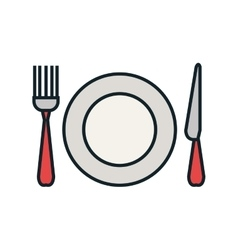 Kitchen dishware and utensil theme design vector