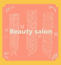 beauty salon hairstyle salon made vector image