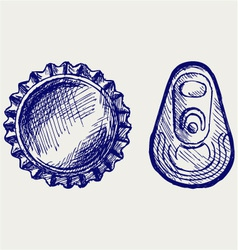 Bottle cap vector image vector image