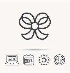 Bow icon gift bow-knot sign vector