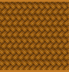 brown wicker pattern vector image vector image