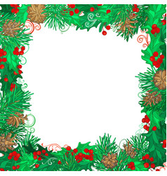 Christmas festive frame on white background vector