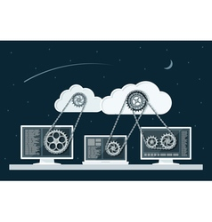 cloud computing 3 vector image vector image