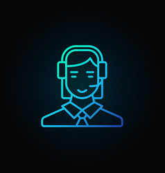 Customer service operator icon vector