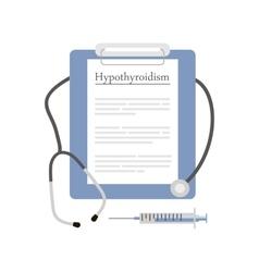 Diagnosis Hypothyroidism Icon vector image