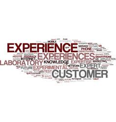 Experiences word cloud concept vector