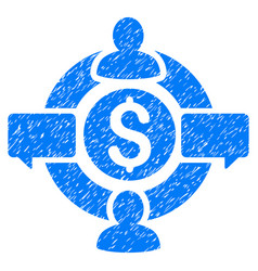 Financial social network grunge icon vector