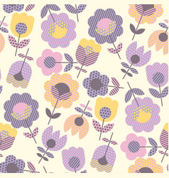 Geometric decorative flower pattern vector