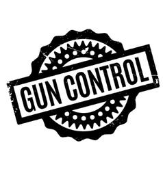 Gun control rubber stamp vector