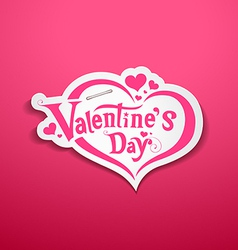 Happy valentine day lettering design on pink vector