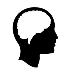 Head brain mind idea creativity pictogram vector
