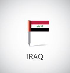 Iraq flag pin vector