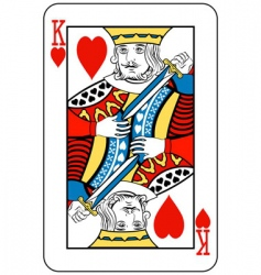 king of hearts vector image