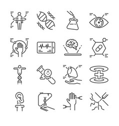 medical innovation line icon set vector image vector image