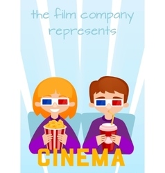 Moviegoers to the cinema vector image vector image