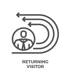 Returning visitor line icon vector
