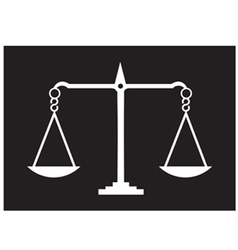 Scales of justice black vector