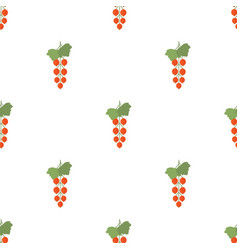 Seamless pattern with red currant vector