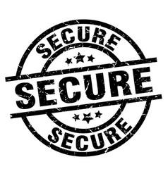 Secure round grunge black stamp vector