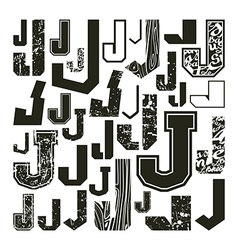 Set versions of letters j vector