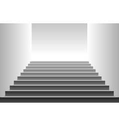 Stairs detailed of black stairs vector
