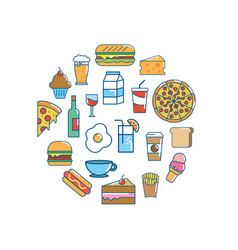 tasty food nutrition backgrou design vector image
