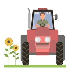 Tractor driver vector