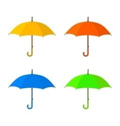 Yellow umbrella icon vector image vector image
