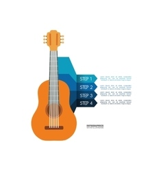 Guitar music sound infographic vector