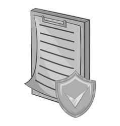 Clipboard with insurance form icon vector